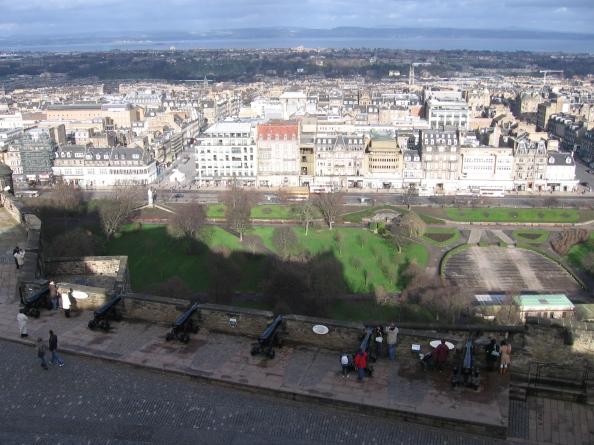 Panorámica de Edimburgo desde el Castillo. Foto: Juan Uribe